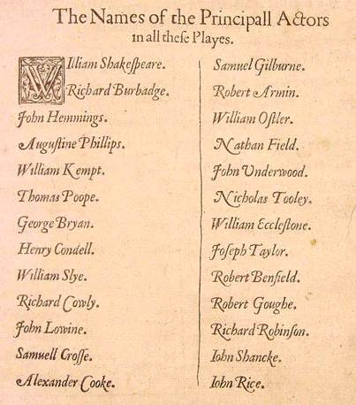 Shakespeare Facts - First Folio